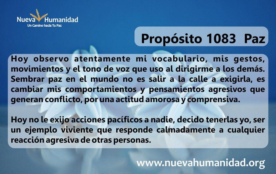 Propósito 1083 Paz