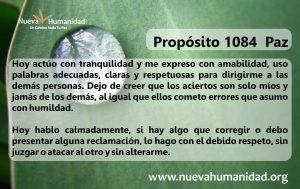 Propósito 1084 Paz