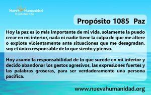 Propósito 1085 Paz