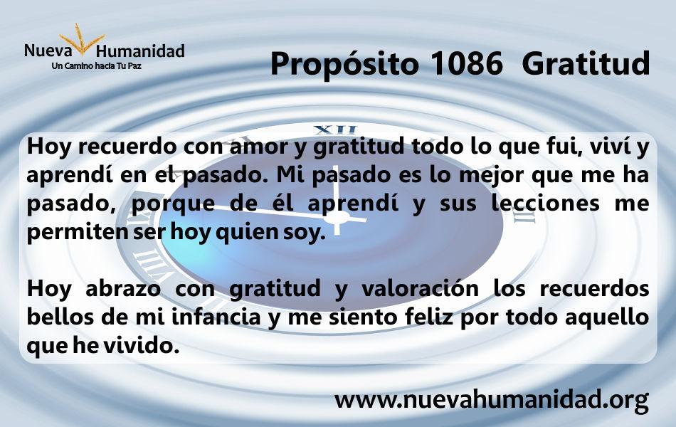 Propósito 1086 Gratitud