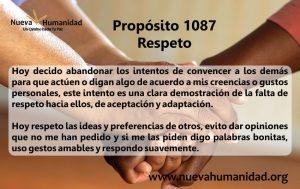 Propósito 1087 Respeto