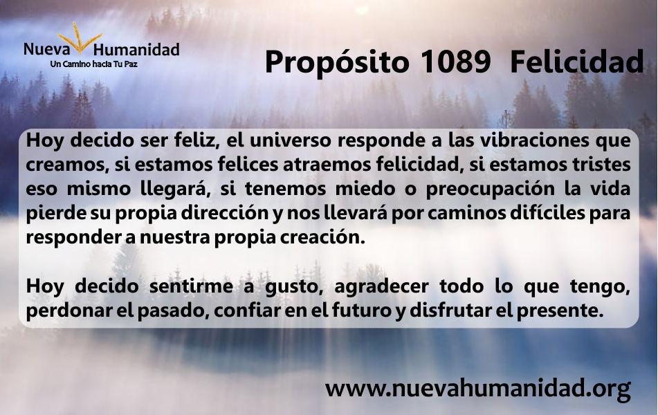 Propósito 1089 Felicidad