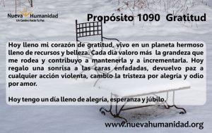 Propósito 1090 Gratitud