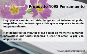 Propósito 1098 Pensamiento