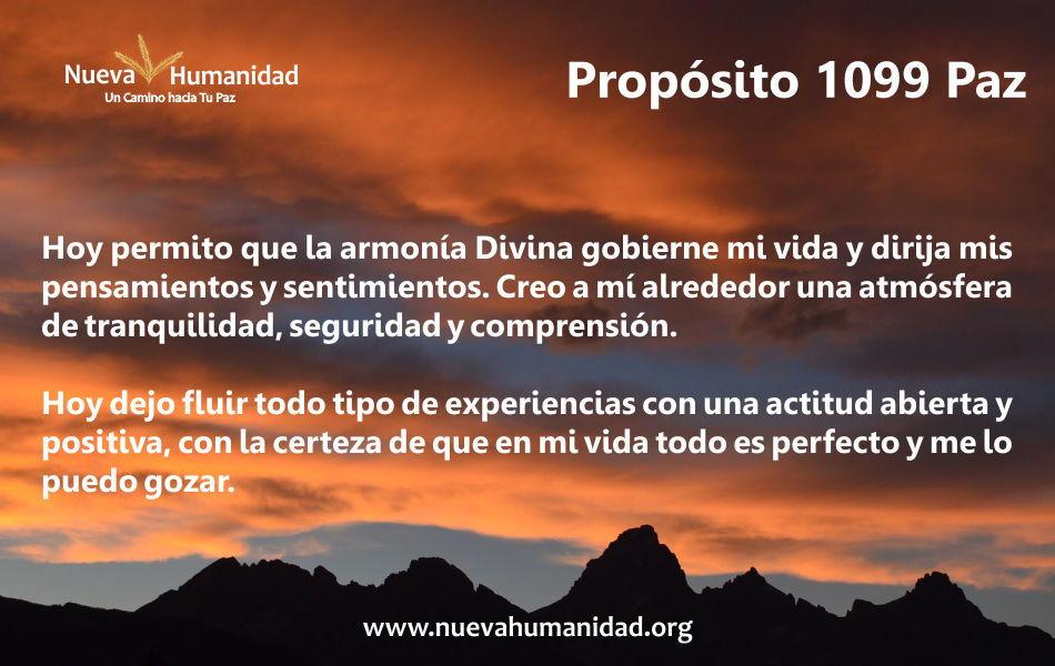 Propósito 1099 Paz
