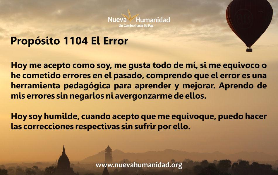 Propósito 1104 El error
