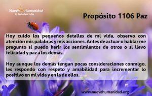 Propósito 1106 Paz