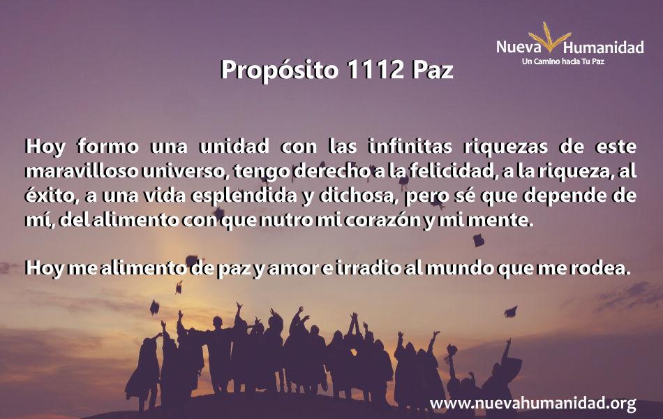 Propósito 1112 Paz