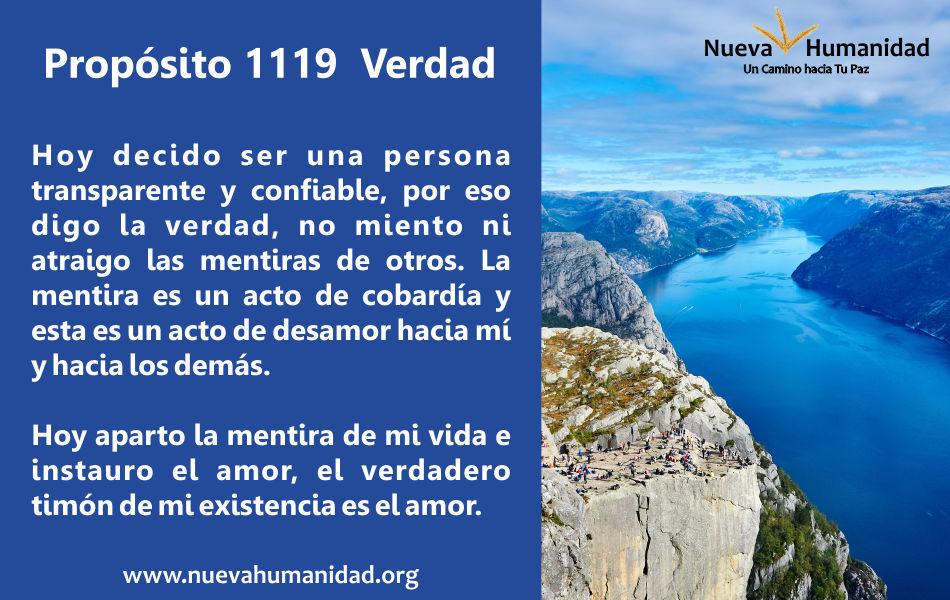 Propósito 1119 Verdad