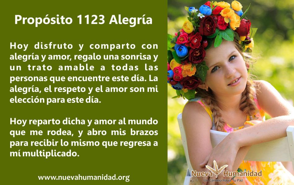 Propósito 1123 Alegría