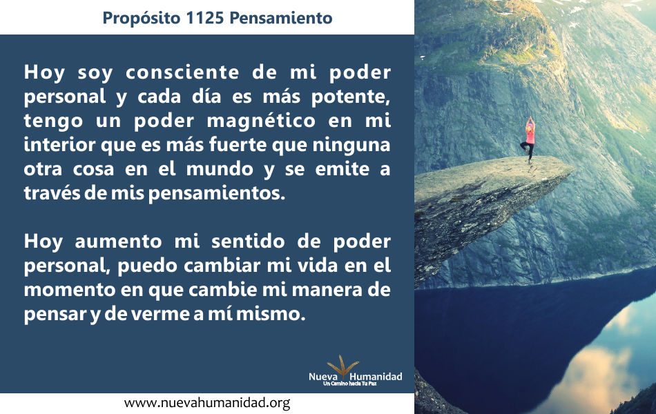 Propósito 1125 Pensamiento