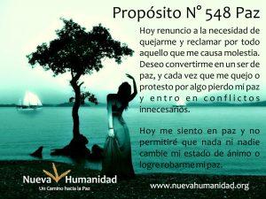 Propósito 548 Paz