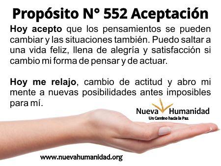 Propósito 552 Aceptación