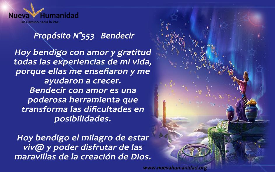 Propósito 553 Bendecir