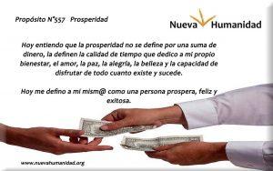 Propósito 557 Prosperidad