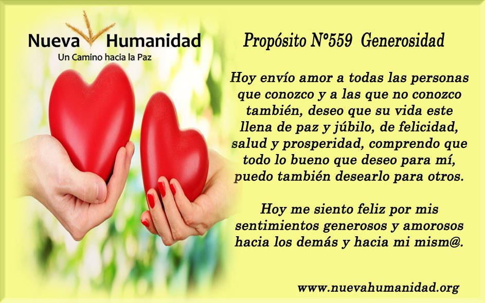 Propósito 559 Generosidad