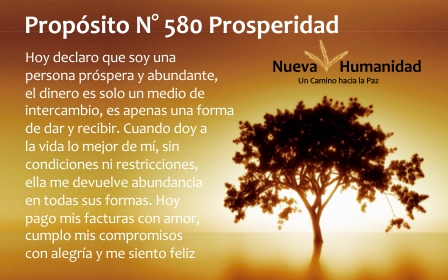 Propósito 580 Prosperidad
