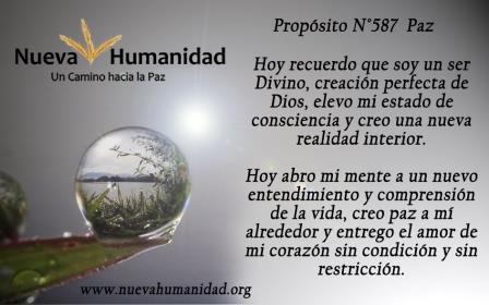 Propósito 587 Paz