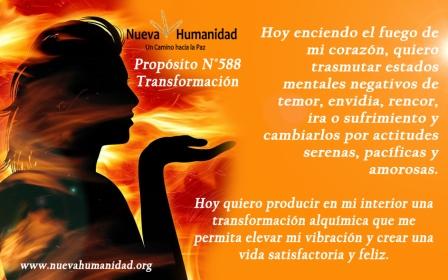 Propósito 588 Transformación