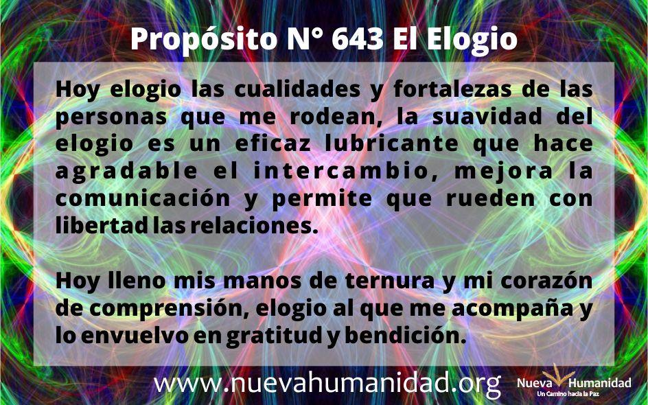 Propósito 643 El elogio