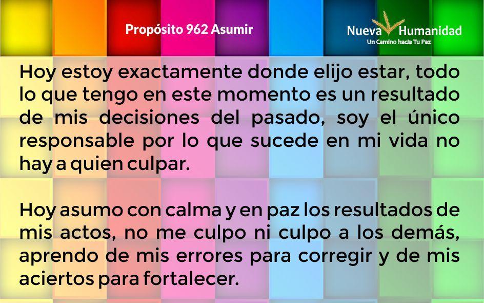 Propósito 962 Asumir