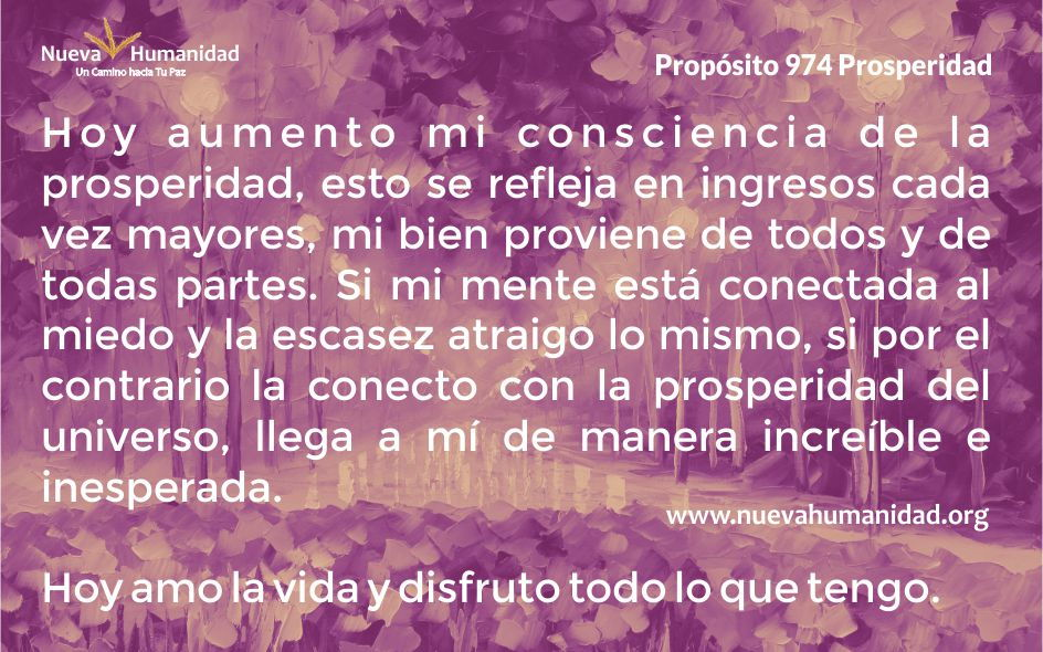 Propósito 974 Prosperidad