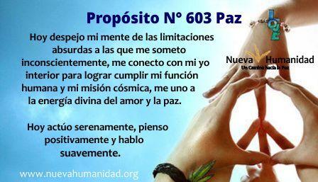 Propósito 603 Paz