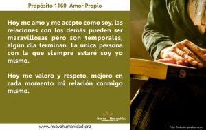 Propósito 1160 Amor propio
