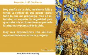 Propósito 1165 Confianza