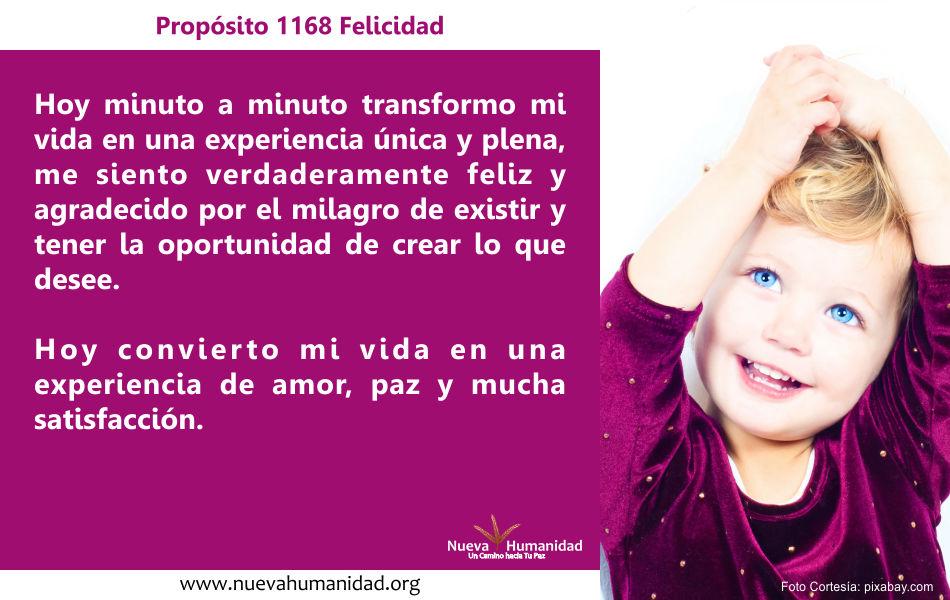 Propósito 1168 Felicidad