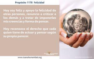 Propósito 1178 Felicidad