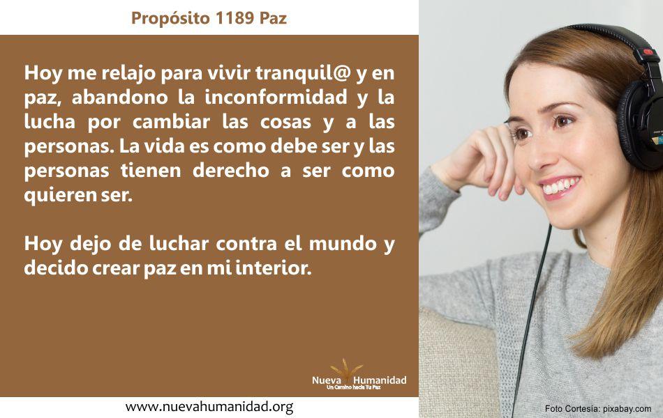 Propósito 1189 Paz