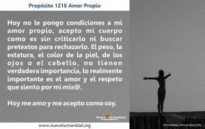 Propósito 1218 Amor propio