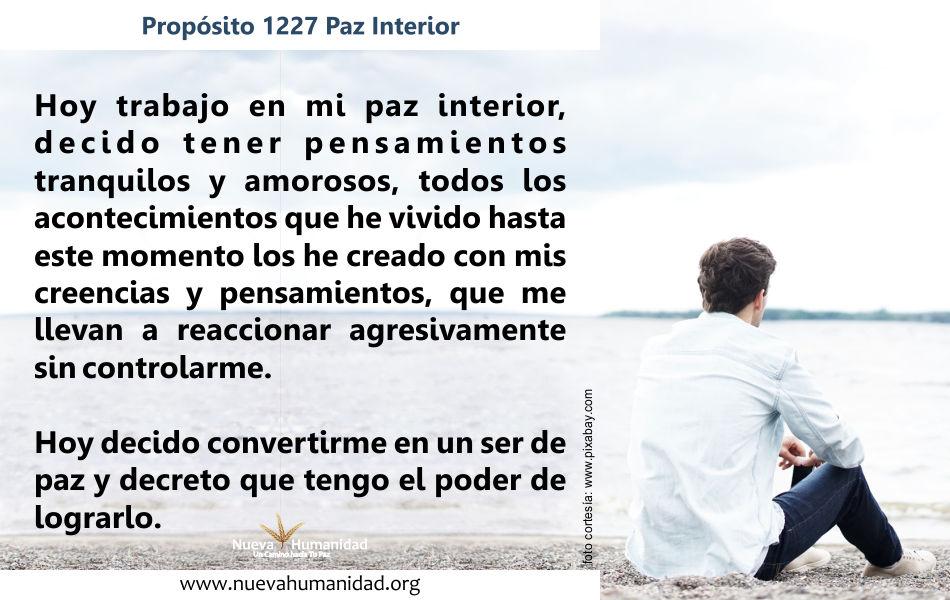 Propósito 1227 Paz interior