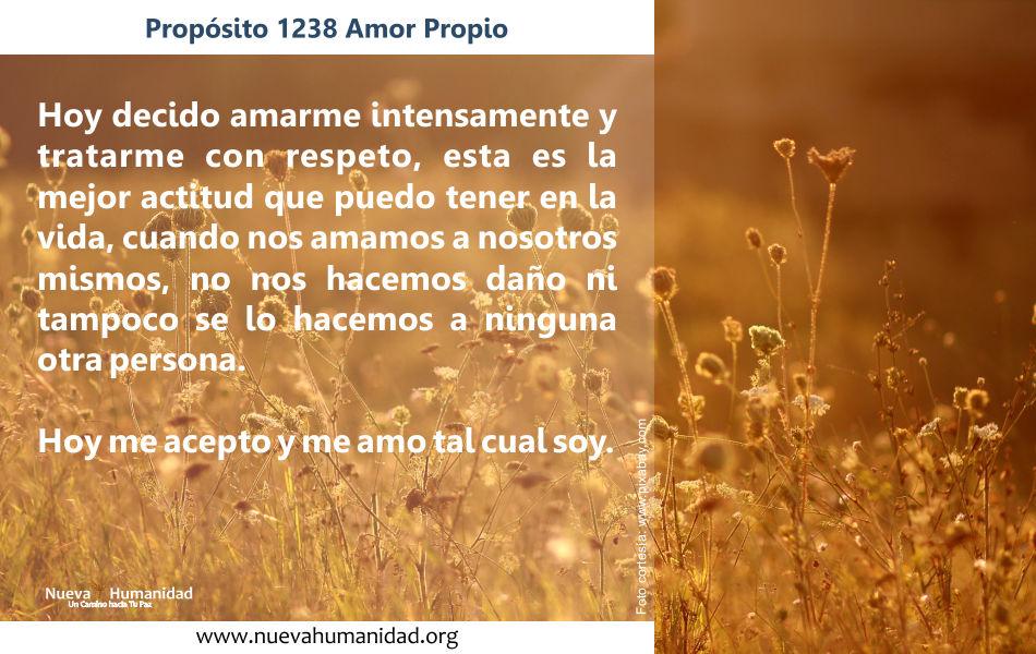 Propósito 1238 Amor propio