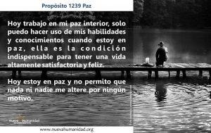 Propósito 1239 Paz
