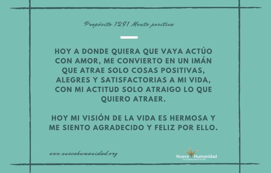 Propósito 1291 Mente positiva