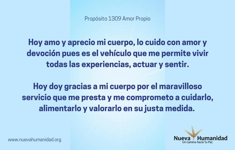 Propósito 1309 Amor propio