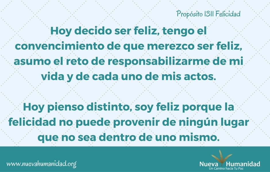 Propósito 1311 Felicidad