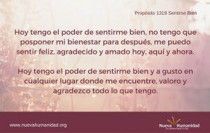 Propósito 1319 Sentirse bien