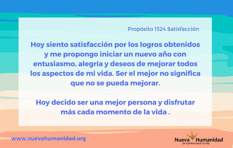 Propósito 1324 Satisfacción