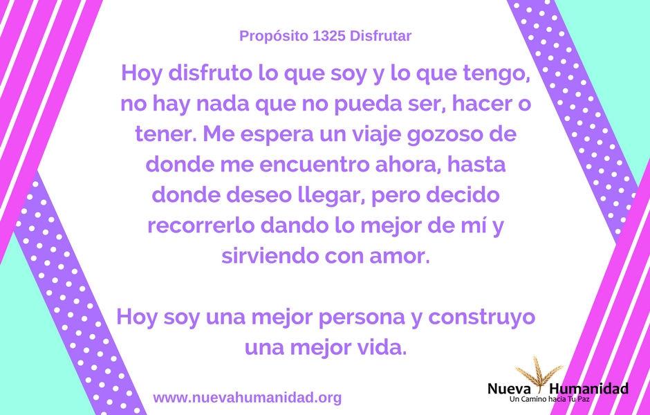 Propósito 1325 Disfrutar