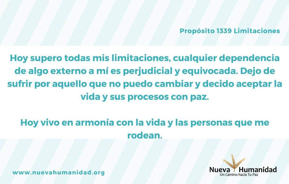 Propósito 1339 Limitaciones