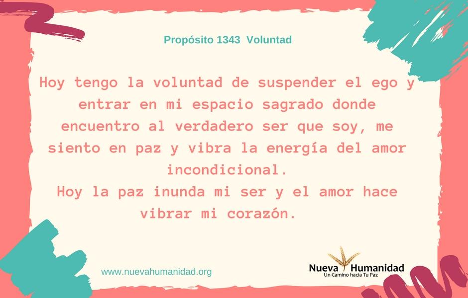 Propósito 1343 Voluntad