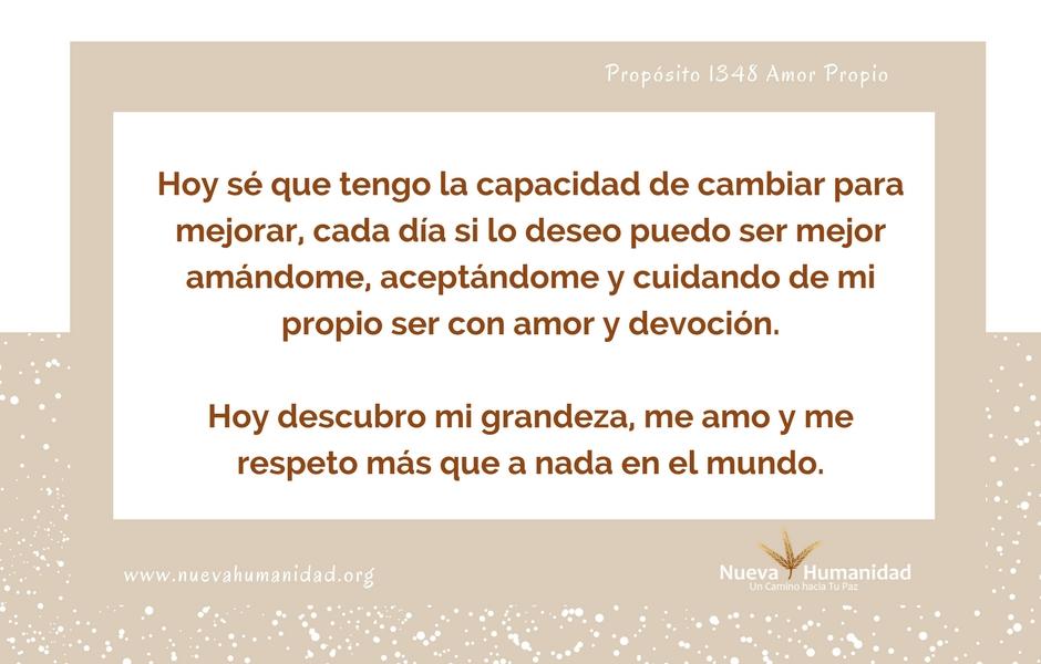 Propósito 1348 Amor propio