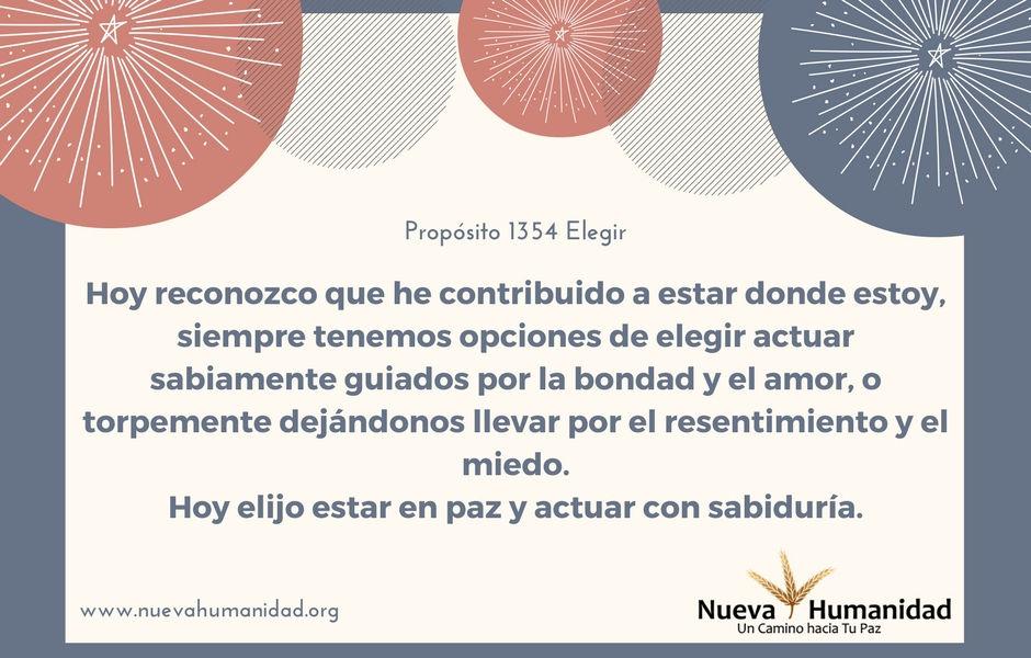 Propósito 1354 Elegir