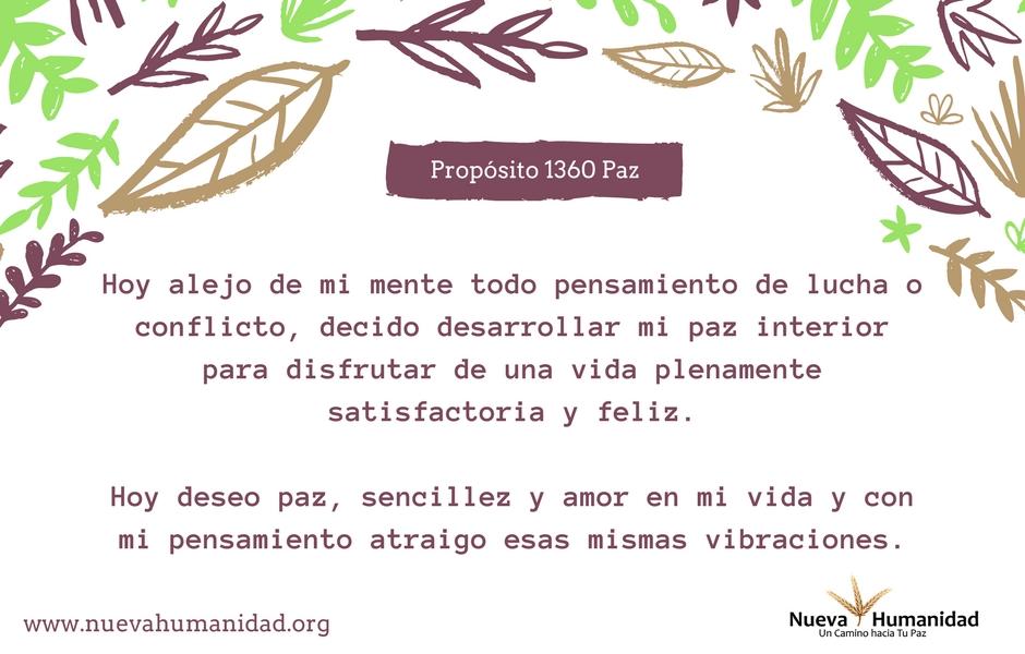 Propósito 1360 Paz