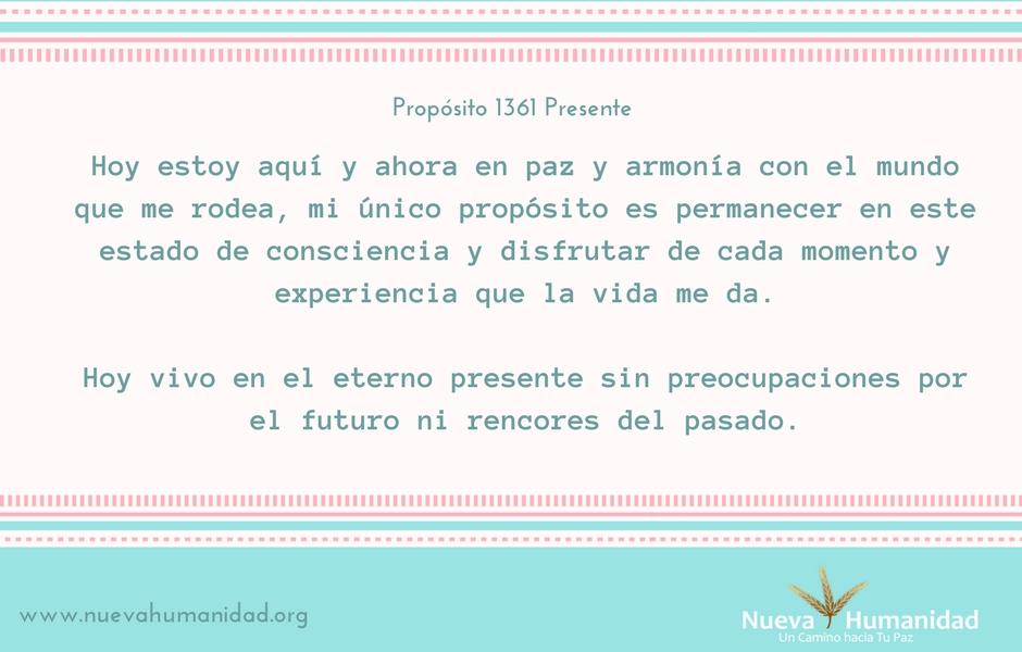 Propósito 1361 Presente