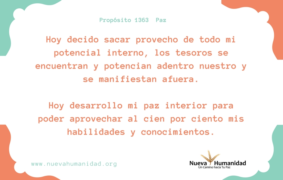 Propósito 1363 Paz