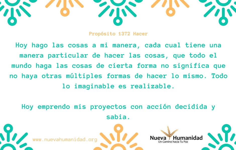 Propósito 1372 Hacer